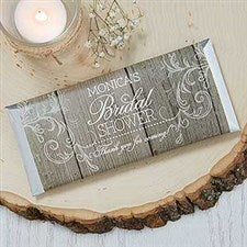 Personalized Candy Bar Wrappers - Rustic Bridal Shower - 16839