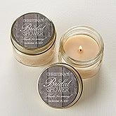 Personalized Mason Jar Candles - Bridal Shower Favors  - 16841
