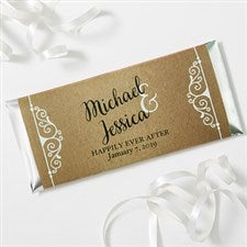 Personalized Rustic Wedding Favor Candy Bar Wrappers - 16848