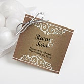 Personalized Wedding Favor Gift Tags - Rustic Chic - 16850