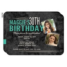 Personalized Birthday Party Invitations - Vintage Age - 16851