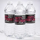 Personalized Birthday Party Water Bottle Labels - Vintage Age Birthday - 16852