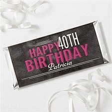 Personalized Birthday Candy Bar Wrappers - Vintage Age Birthday - 16871
