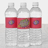 Personalized Water Bottle Labels - Superhero Birthday - 16874