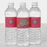 Personalized Water Bottle Labels - Superhero Birthday - 16874
