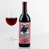 Personalized Wine Bottle Labels - Superhero Photo - 16880