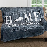 Personalized Couples Fleece Blanket - State Of Love - 16881