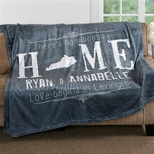 Personalized Couples Blanket - State Of Love - 16881