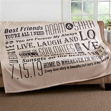 Personalized Romantic Couple Blanket - Our Life Together - 16882