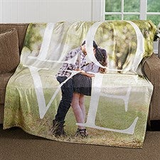 Personalized LOVE Photo Couple Blanket - 16883
