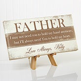 Personalized Father's Day Canvas Print - His Words Of Wisdom - 16887