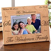 Personalized Wood Picture Frame - Family Traditions - 1689