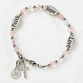 Faith, Hope & Love Child's Personalized Bracelet - 16896