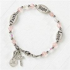 Faith, Hope & Love Child's Personalized Bracelet - 16896
