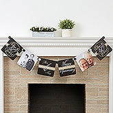 Personalized Anniversary Party Paper Photo Banner - Cheers To Then & Now - 16903