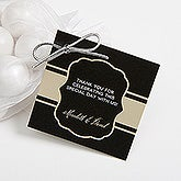 Personalized Anniversary Party Favor Gift Tags - Cheers To Then & Now - 16907