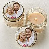 You Picture It! Personalized Mason Jar Candle Favors - 16909