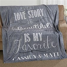 Love Story Personalized Couples Blankets - 16911