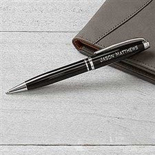 Personalized Pen - Black & Silver - 16915