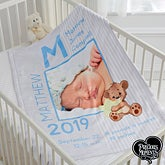 Personalized Precious Moments Photo Baby Blanket For Boys - 16924
