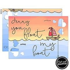Personalized Romantic Couples Greeting Cards - You Float My Boat - 16945