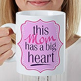 Personalized Oversized Coffee Mug - Big Heart - 16947
