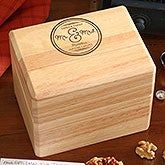 Personalized Wedding Recipe Box - Circle Of Love - 16963