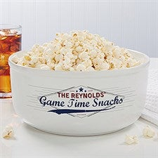 Personalized Large Snack Bowl - Game Time - 16964
