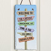 Personalized Vertical Slate Plaque - Journey Marker - 16967