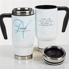 Personalized Commuter Travel Mug - Name Meaning - 16969