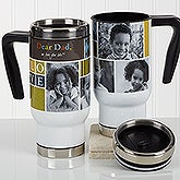 Personalized Photo Commuter Travel Mug - Photo Fun For Him - 16971