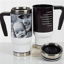 Personalized Photo Commuter Travel Mug - Photo Sentiments For Him - 16973