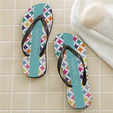 Personalized Adult Flip Flops - Geometric - 16998