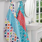 Personalized Bath Towel - Geometric - 16999