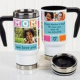 Personalized Commuter Travel Mug - Mom Photo Collage - 17000