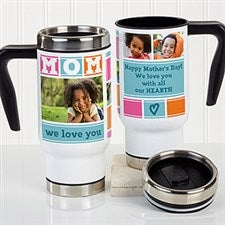 Personalized Commuter Travel Mug - Mom Photo Collage - 17000