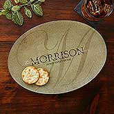 Personalized Glass Platter - Heart of Our Home - 17008