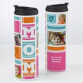 Personalized 16oz. Travel Tumbler - Mom Photo Collage - 17013