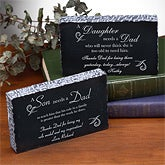 Personalized Marble Gifts with Poems for Fathers - 1702