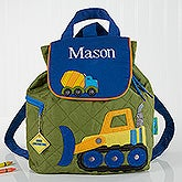 Personalized Kids Backpacks - Construction Trucks - 17032