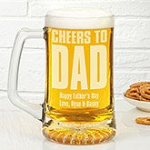 Personalized Beer Glass Mug - Cheers! To Him - 17039