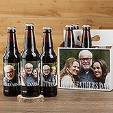 Cheers To Dad Personalized Beer Bottle Labels & Bottle Carrier - 17041