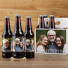 Personalized Beer Bottle Labels & Bottle Carrier - Cheers To Dad - 17041