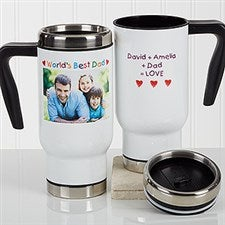Personalized Photo Commuter Travel Mug - Photo Message For Him - 17043