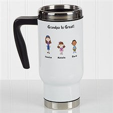 Personalized Commuter Travel Mug - Family Character Collection - 17044
