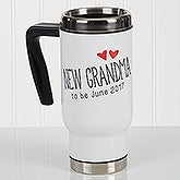 Personalized Commuter Travel Mug - Grandparent Established - 17048