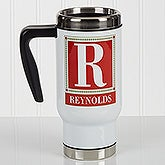 Personalized Commuter Travel Mug - Letter Perfect - 17051