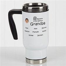 Personalized Grandparent Commuter Travel Mug - So Many Reasons - 17055