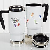 Personalized Commuter Travel Mug - Hands Down - 17058