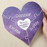 Personalized Heart Greeting Card - We Love You To Pieces - 17059